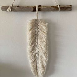 Large Single Hanging Feather