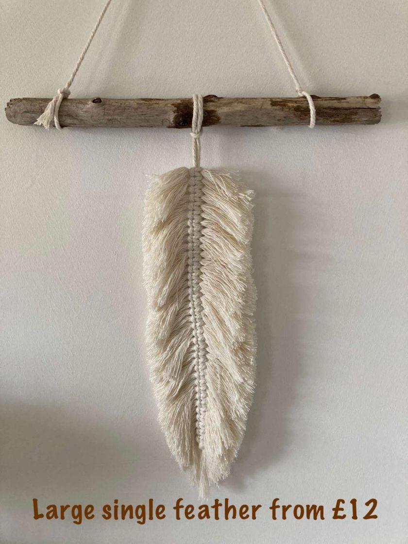 Large Single Hanging Feather