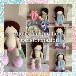 Doll plushy  hand knitted Lola