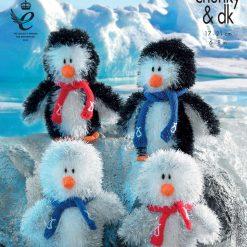 King Cole - Knitting Pattern - Penguin Family