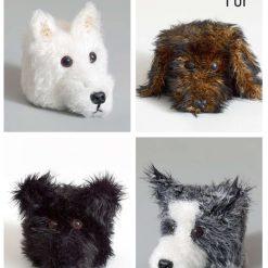 King Cole - Crochet Pattern - Dog Head Toilet Roll Holders