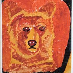 MY POWER ANIMAL (BEAR CUB) – A4 UNFRAMED PRINT + SEPARATE POEM – ORIGINAL ART DIRECT