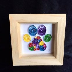 Paper Quilling Paw Print Frame
