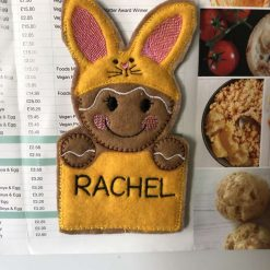 Bunny Gingerbread Man Fridge Magnet