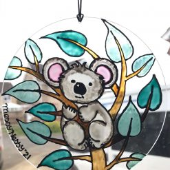 Handcrafted gift Fluffy Koala Sun Catcher