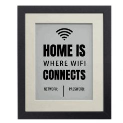 Home is where the WiFi is frame