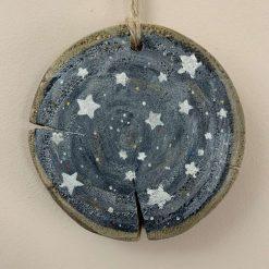 Wooden slice - starry sky