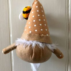 Hanging gnome/gonk with bees beige 3