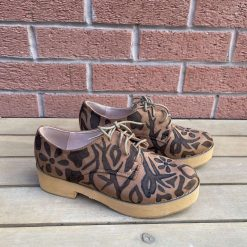 Brown suede abstract shoes UK 6