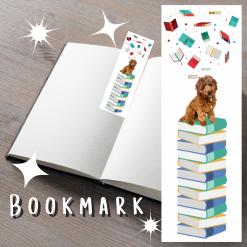 Cockapoo Dog Bookmark | Book Accessories | Dog Illustration | Dog Themed Gift | Custom Pet Portrait