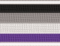 LGBT Gay Pride Patch and Badge - Agender