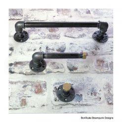 Steampunk Pipe Bathroom Set - Rustic / Farmhouse / Industrial / Handmade / Bathroom