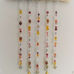 Beaded driftwood suncatcher