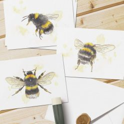 Set of 6 cards - Sweet buzzy bees