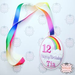 Personalised Rainbow Birthday Medal