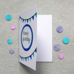Blue / Pink Happy Birthday Greetings Card 4