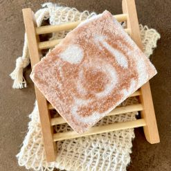 Rose & Geranium Salt Soap with French Red Clay