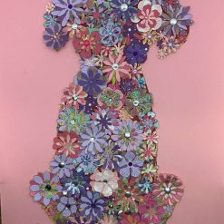 Floral 3D effect dog craft Kit