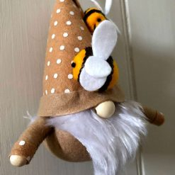 Hanging gnome/gonk with bees beige 1