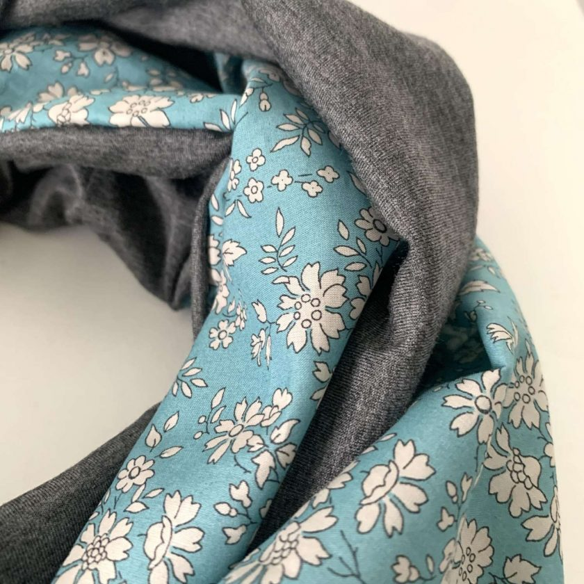 Liberty tana lawn and bamboo jersey infinity scarf
