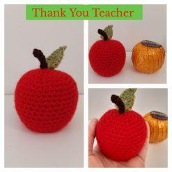 Thank you, Teacher crochet chocolate orange apple cover