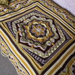 Cosmic Harmony Crochet Blanket/Throw