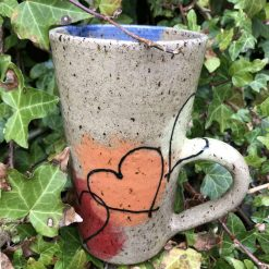 Heart design latte style mug