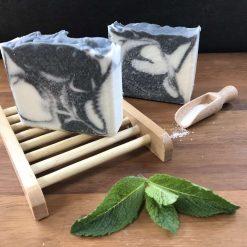A Peppermint Mornings Salt Soap