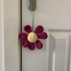 Handmade Crochet Flower Car/Room Essential Oil Diffuser