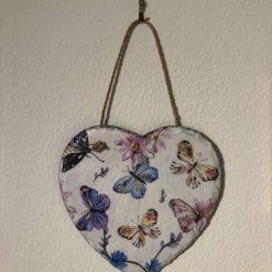 Butterfly slate heart