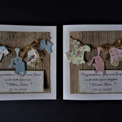 Rustic Style New / Birth of Baby Card * Boy or Girl - Son / Daughter