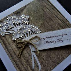 Handmade * Simple Rustic Style Wedding / Engagement / Anniversary Card