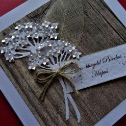 WELSH  Simple, Rustic style Wedding / Anniversary Card * Llongyfarchiadau ar eich Priodas