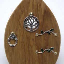 Fairy Door Wooden Tree of Life Garden Tree Home Hand Made Cornish Oak