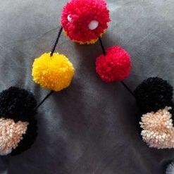 Mickey & Minnie Mouse pom pom Garland