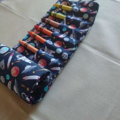 Space theme crayon roll