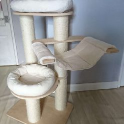 Replacement Removable 3 Piece Ivory Super Soft Plush Fleece Pet Cat Snuggle Bed Set for Natural Paradise Cat Tree Large (not incl. cat tree) (Copy) (Copy) (Copy)