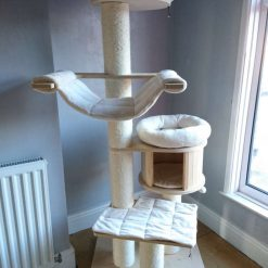 Replacement Removable 5 Piece Ivory Super Soft Plush Fleece Pet Cat Snuggle Bed Set for Natural Paradise Cat Tree XL (not incl. cat tree) (Copy)