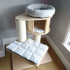 Replacement Removable 3 Piece Silver Grey Super Soft Plush Fleece Pet Cat Snuggle Bed Set for Natural Paradise Cat Tree Mini (not incl. cat tree) (Copy) (Copy)