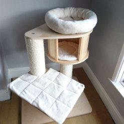 Replacement Removable 3 Piece Ivory Super Soft Plush Fleece Pet Cat Snuggle Bed Set for Natural Paradise Cat Tree Mini (not incl. cat tree) (Copy) (Copy)
