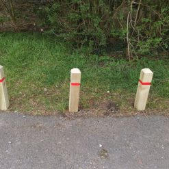 Wooden Reflective Garden, Patio or Driveway Posts