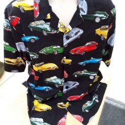 E Type Jaguar themed men's casual shirt