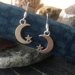 Earrings-Crescent Moon and Star