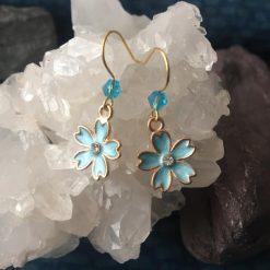 Earrings-Verbena Blue