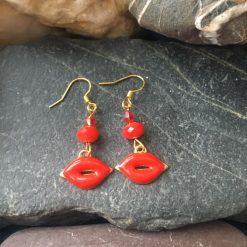 Earrings-Hot Lips!