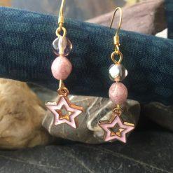 Earrings-Pink Star Dangle
