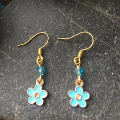 Earrings-Forget-me-not Flowers