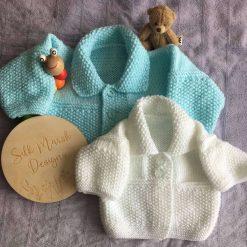 """Emily"" - Baby Cardigans (short & long sleeved) PDF Knitting Pattern"