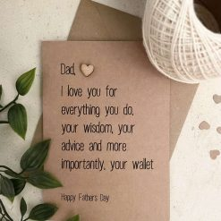 Rustic Fathers Day Card - Funny