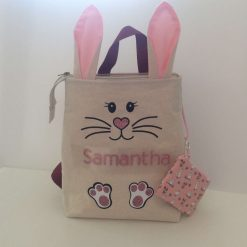 Personalised child's 'Bunny' Backpack and Coin Purse